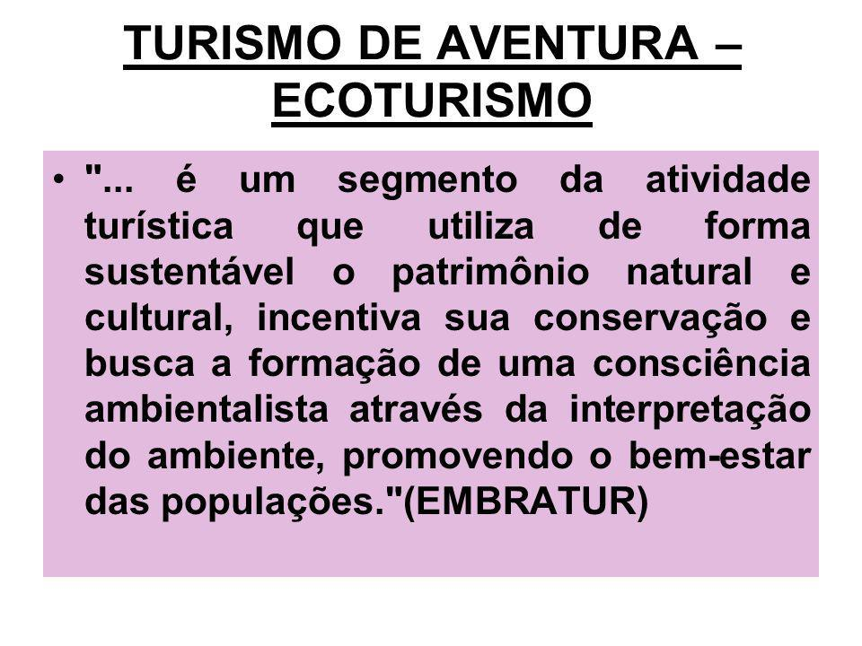 TURISMO DE AVENTURA – ECOTURISMO