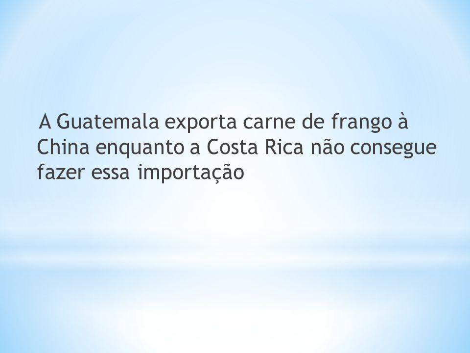A Guatemala exporta carne de frango à China enquanto a Costa Rica não consegue fazer essa importação