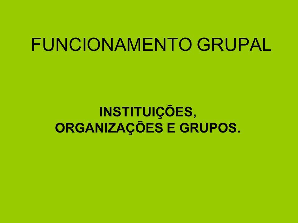Instituição: É um valor ou regra social que serve como guia básico de comportamento e de padrão ético para as pessoas.