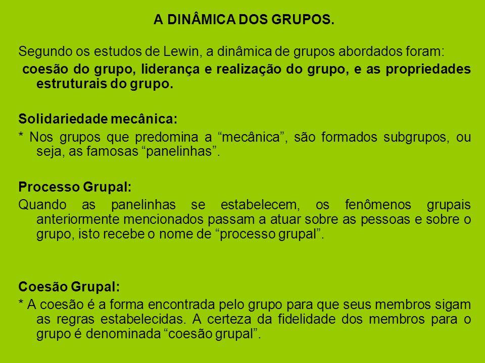 Os motivos individuais são tão importantes para a adesão ao grupo e na escolha do mesmo.