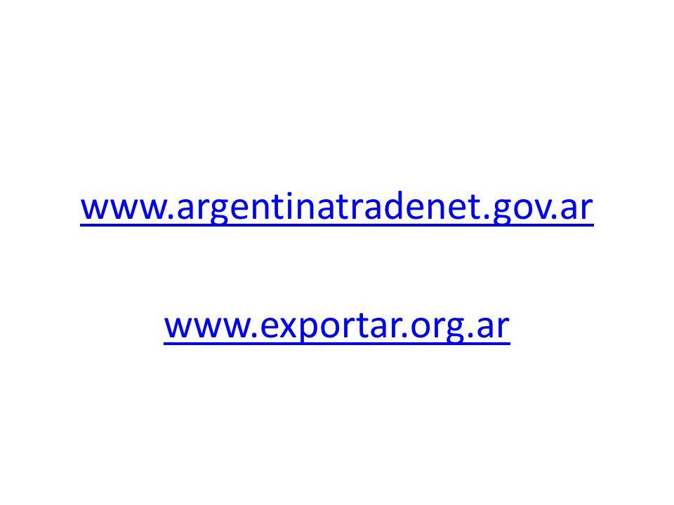 www.argentinatradenet.gov.ar www.exportar.org.ar