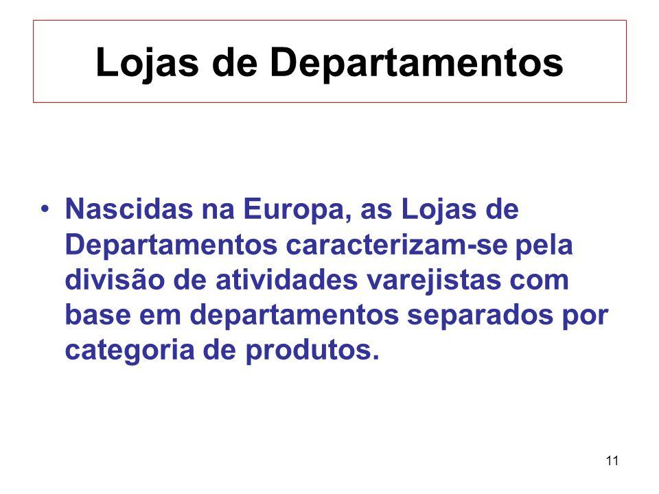 11 Lojas de Departamentos Nascidas na Europa, as Lojas de Departamentos caracterizam-se pela divisão de atividades varejistas com base em departamento