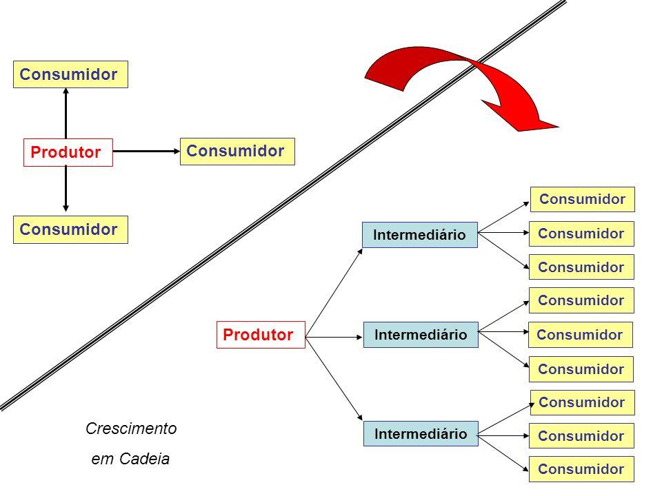 4 Produtor Consumidor Intermediário Consumidor Crescimento em Cadeia