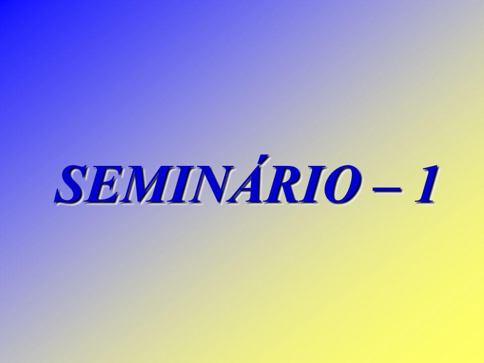 SEMINÁRIO – 1