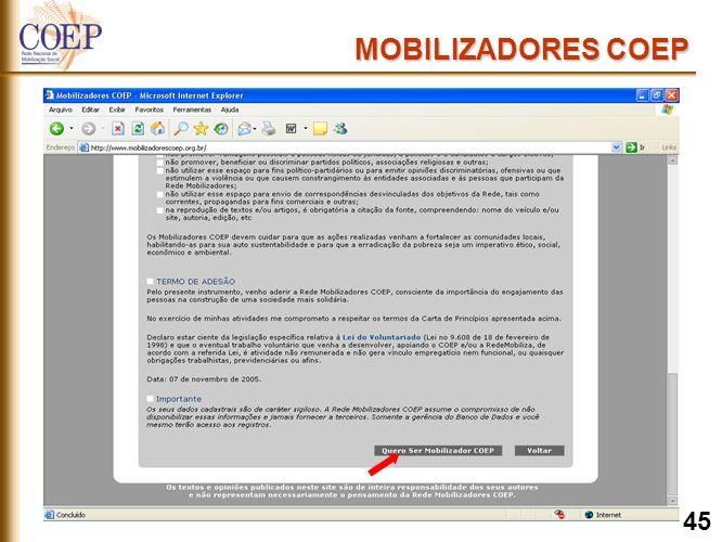 MOBILIZADORES COEP 45