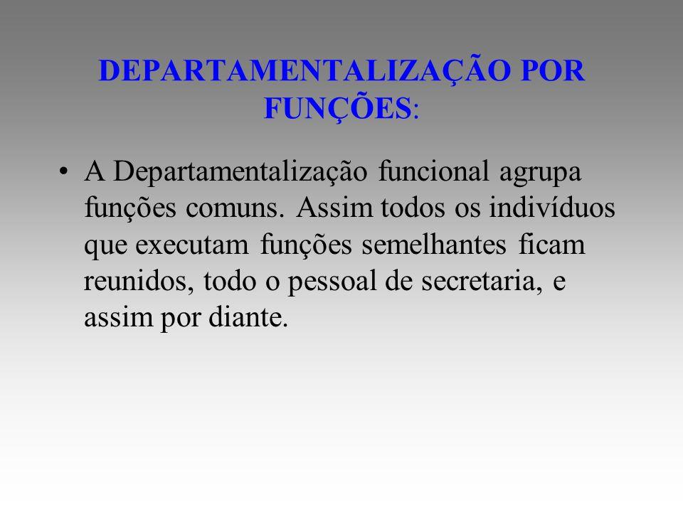 DEPARTAMENTALIZAÇÃO DE PRODUTO: