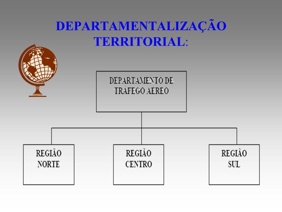 É o agrupamento de atividades de acordo com os lugares onde estão localizadas as operações.