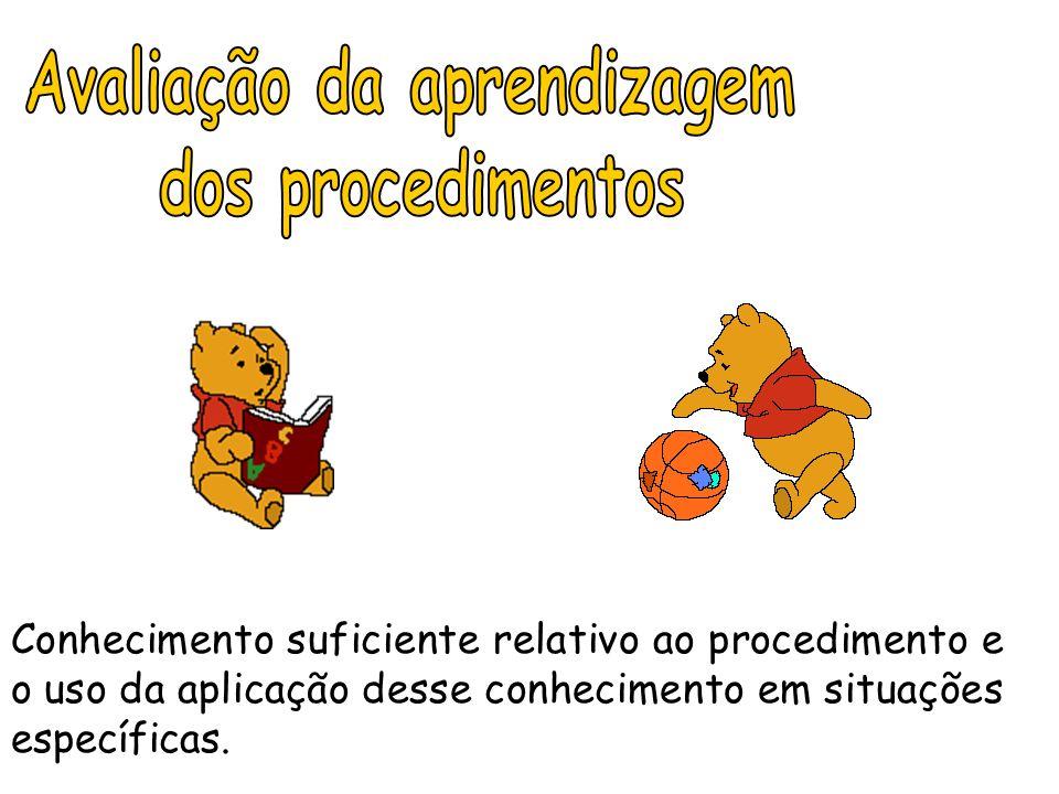 Conhecimento suficiente relativo ao procedimento e o uso da aplicação desse conhecimento em situações específicas.