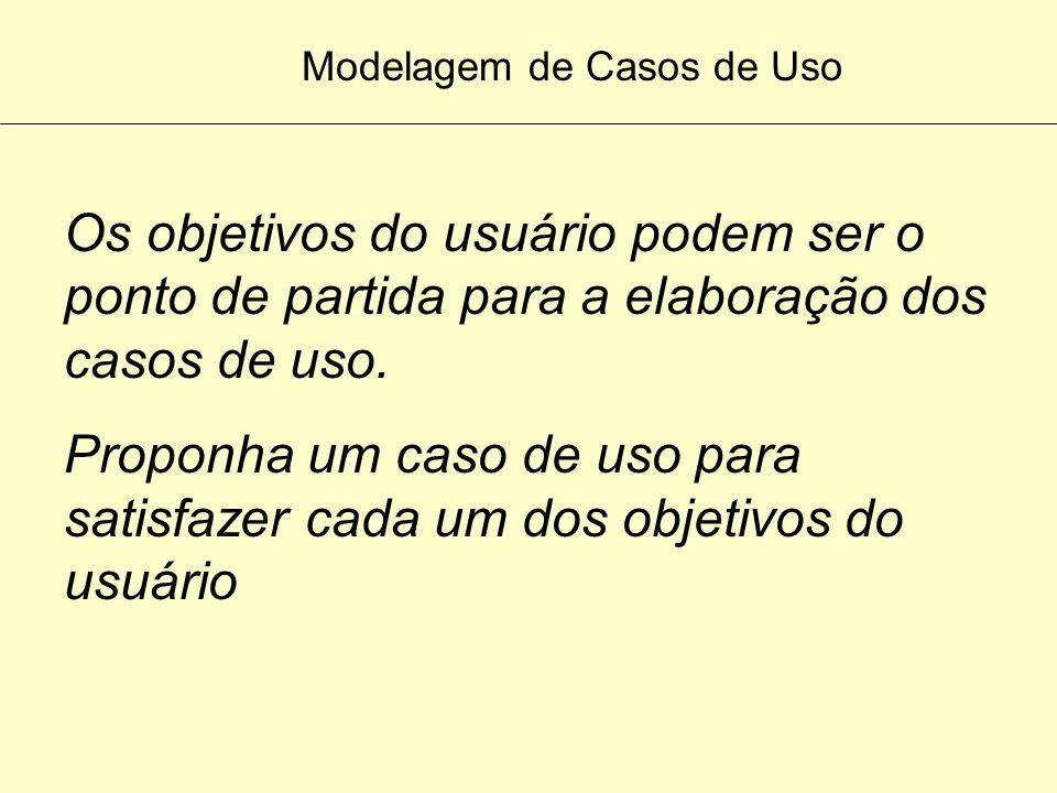 Modelagem de Casos de Uso O caso de uso fornece uma maneira para os desenvolvedores chegarem a uma compreensão comum com os usuários finais do sistema