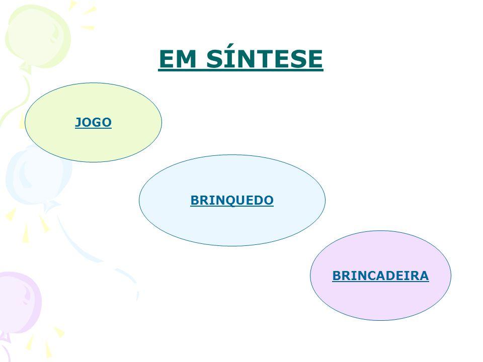 EM SÍNTESE JOGO BRINQUEDO BRINCADEIRA