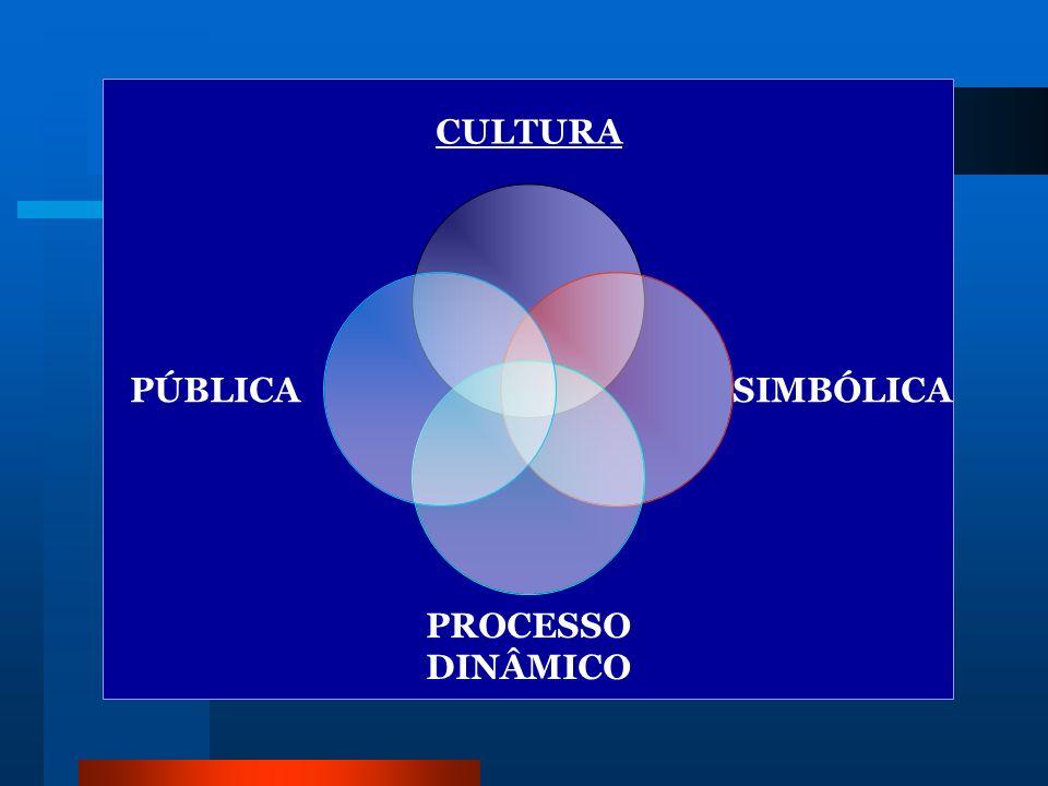 CULTURA SIMBÓLICA PROCESSO DINÂMICO PÚBLICA