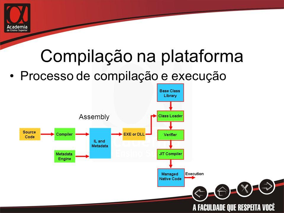 Compilação na plataforma Processo de compilação e execução Assembly