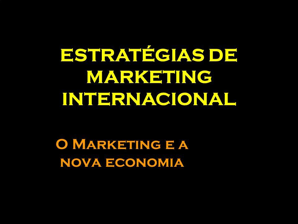 O Marketing e a nova economia ESTRATÉGIAS DE MARKETING INTERNACIONAL