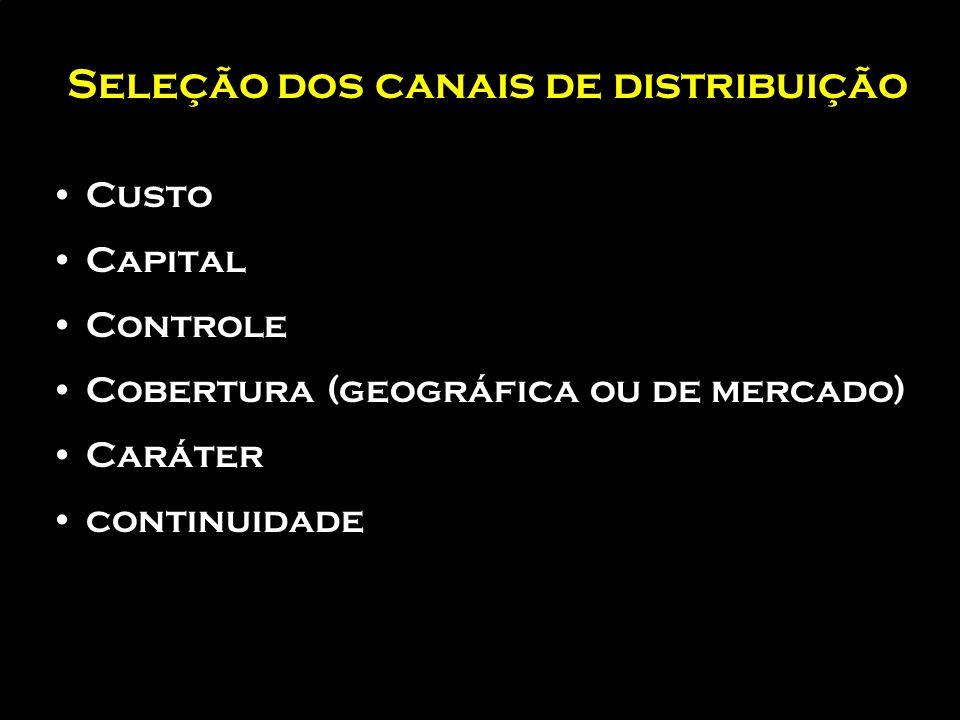 Canais em marketing Internacional para produtos de Industriais FABRICANTES E INDÚSTRIAS DE TRANSFORMAÇÃO (E) CLIENTES F. V. ATACADISTA (I) DISTRIBUIDO