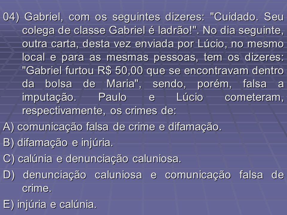 04) Gabriel, com os seguintes dizeres: