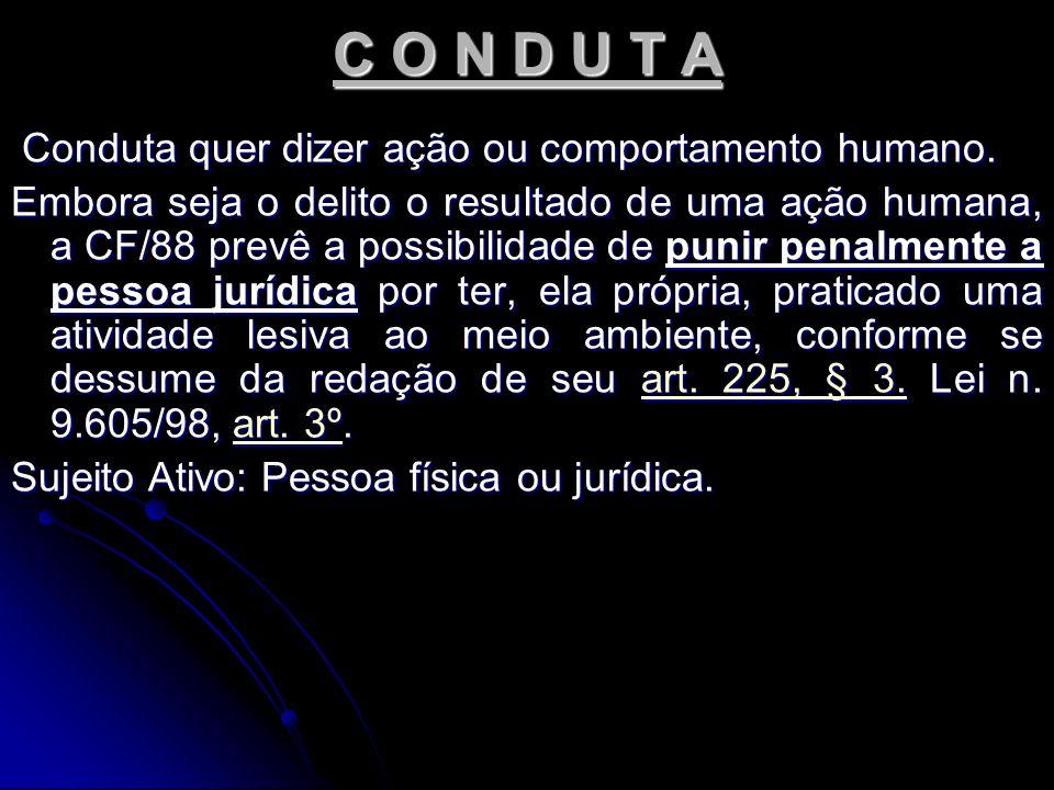 CONDUTAS DOLOSAS E CULPOSAS A conduta pode ser de dois tipos: dolosa ou culposa.
