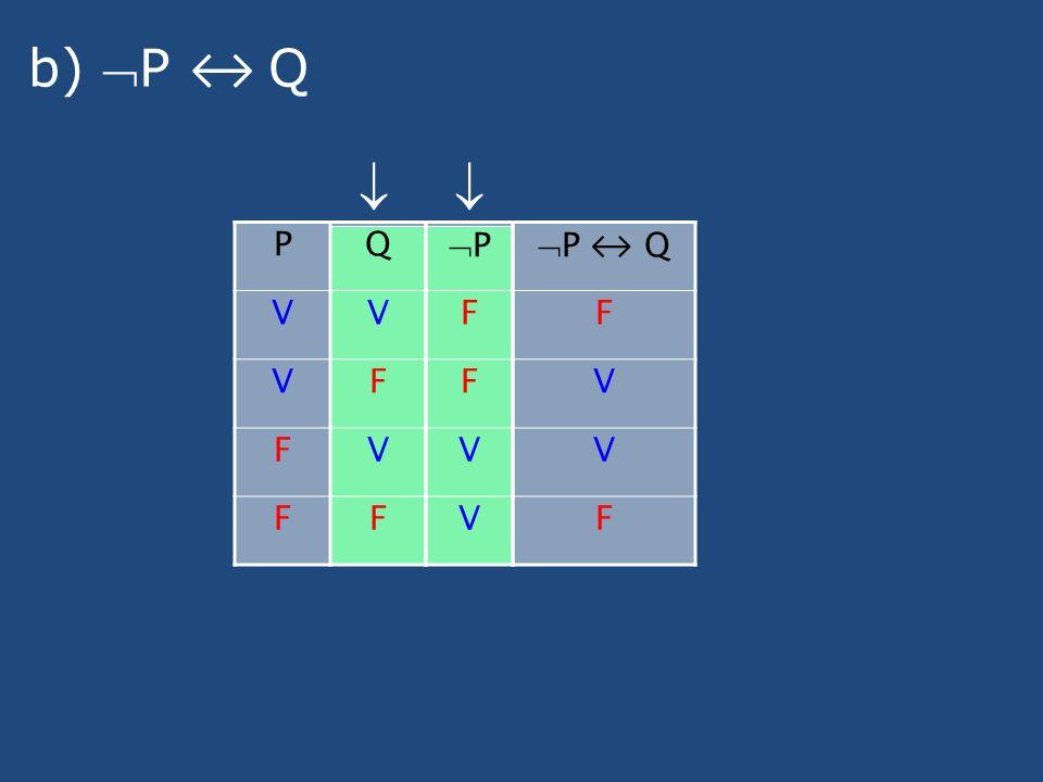b) P Q PQ VV VF FV FF P F F V V P Q F V V F