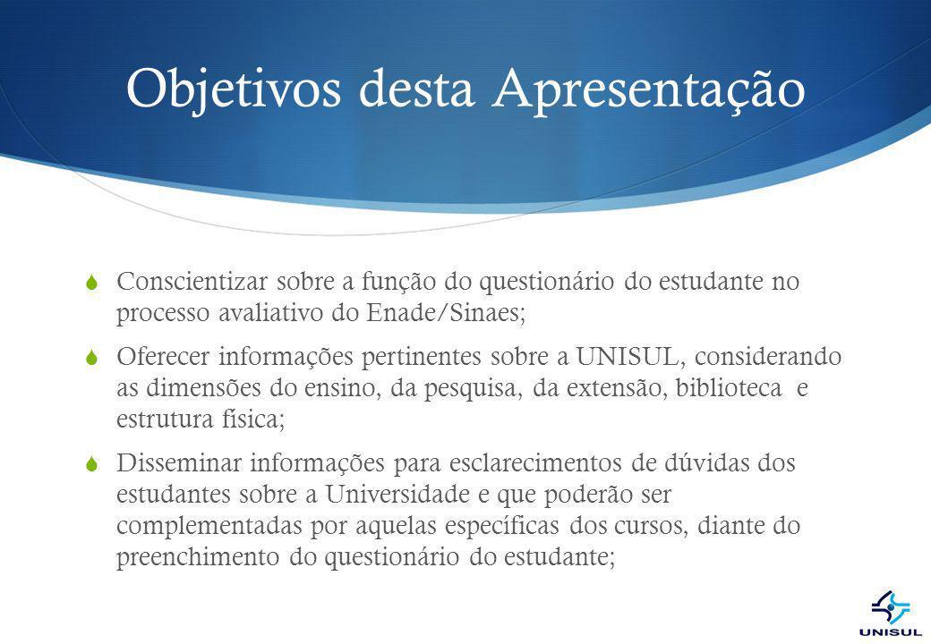 Estrutura Informações Sobre a UNISUL