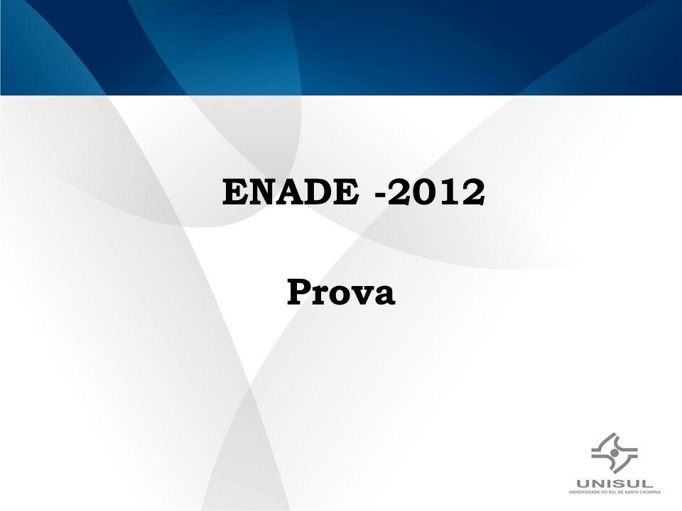 ENADE -2012 Prova
