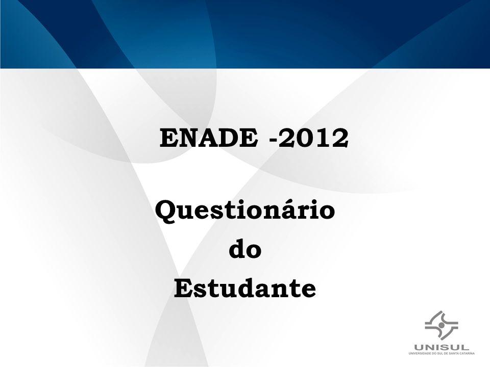 ENADE -2012 Questionário do Estudante