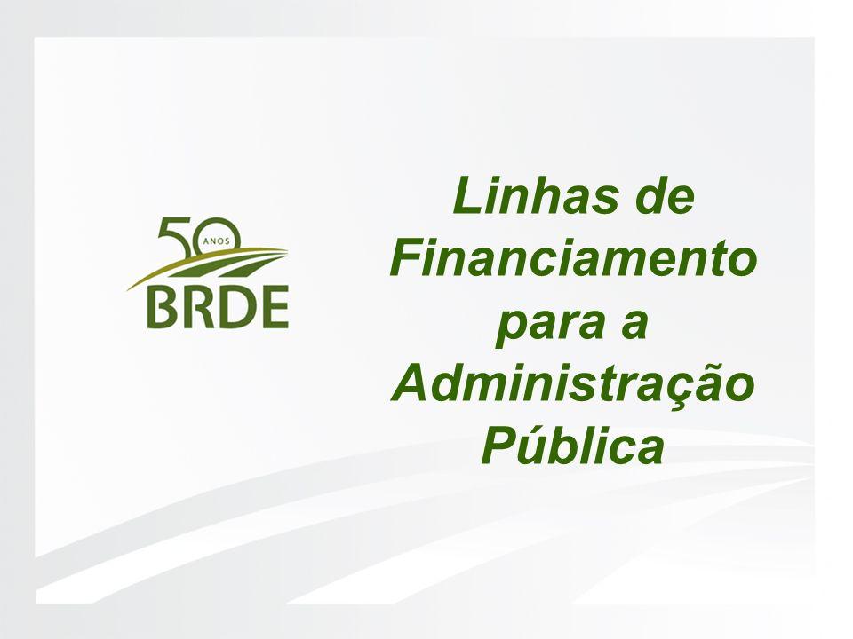 Linhas de Financiamento para a Administração Pública