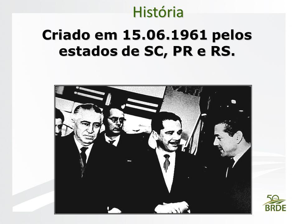 Criado em 15.06.1961 pelos estados de SC, PR e RS. História