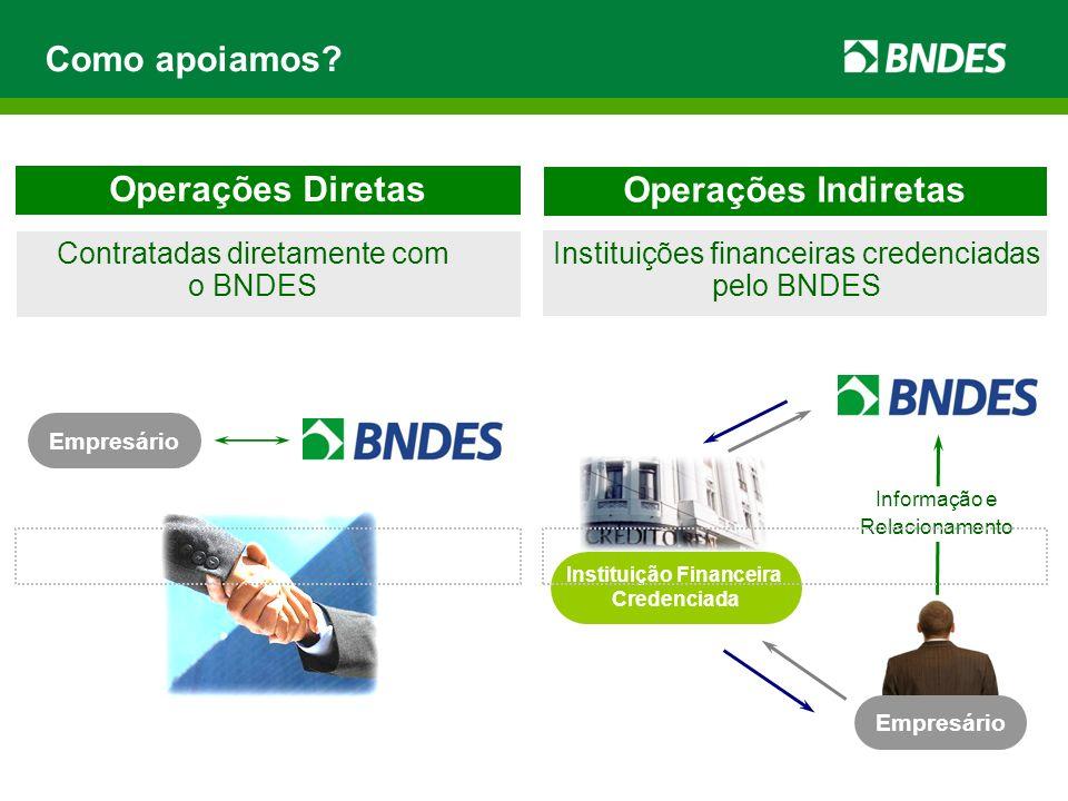 Requisitos mínimos O BNDES não exige tempo mínimo de faturamento.