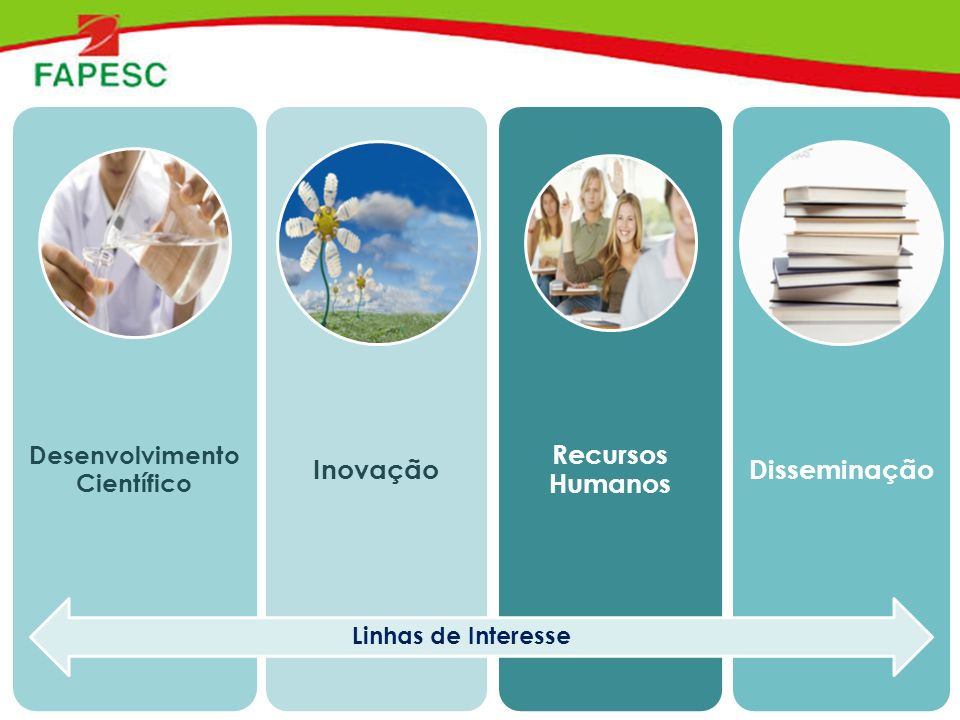Desenvolvimento Científico Inovação Recursos Humanos Disseminação Linhas de Interesse