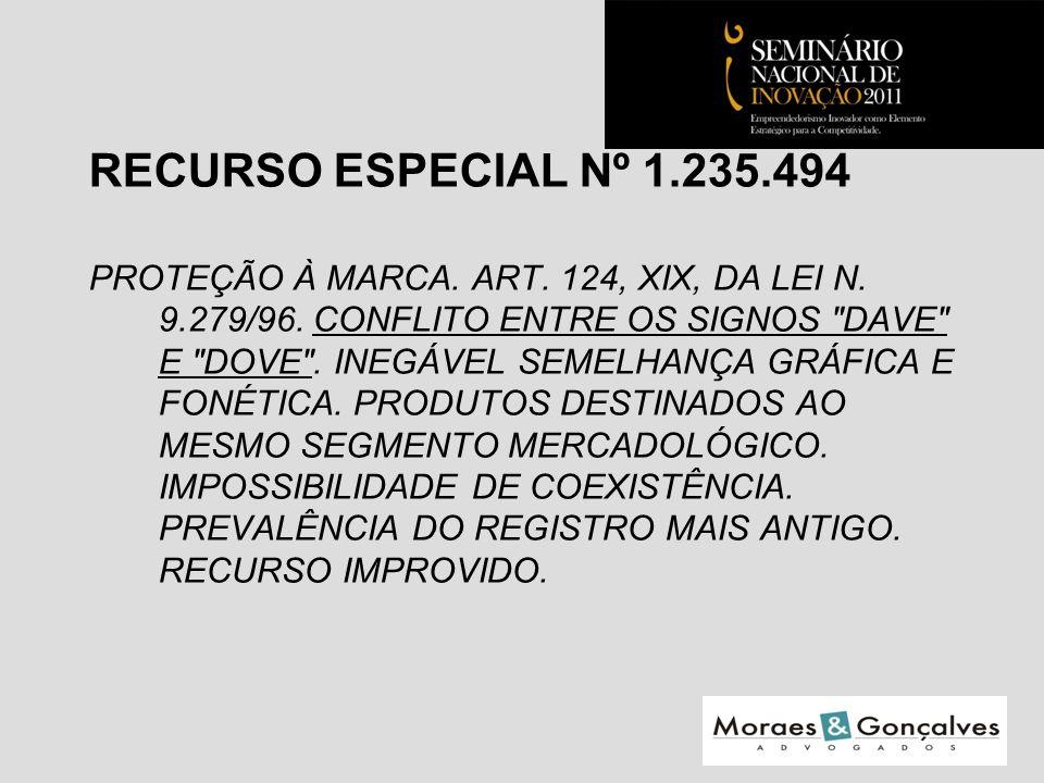 RECURSO ESPECIAL Nº 1.235.494 PROTEÇÃO À MARCA. ART.