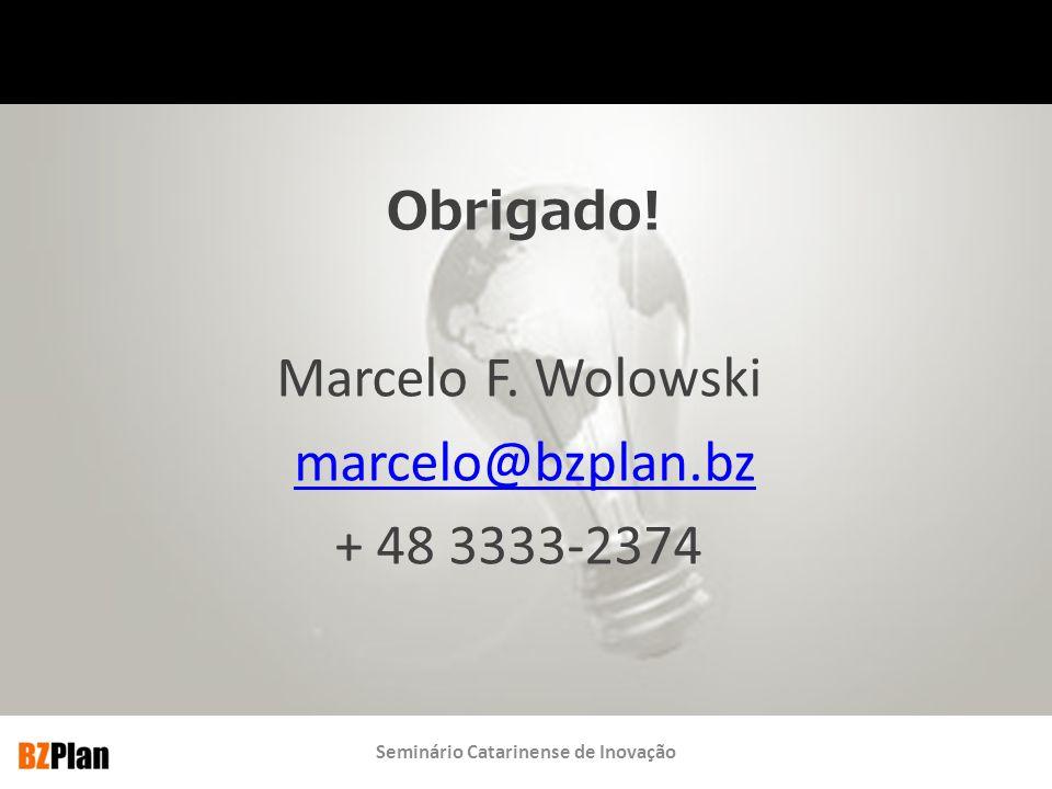 Marcelo F. Wolowski marcelo@bzplan.bz + 48 3333-2374 Obrigado!
