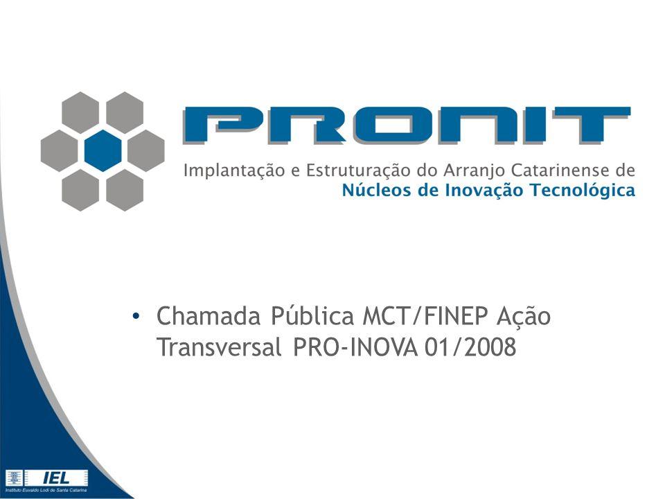 Chamada Pública MCT/FINEP Ação Transversal PRO-INOVA 01/2008