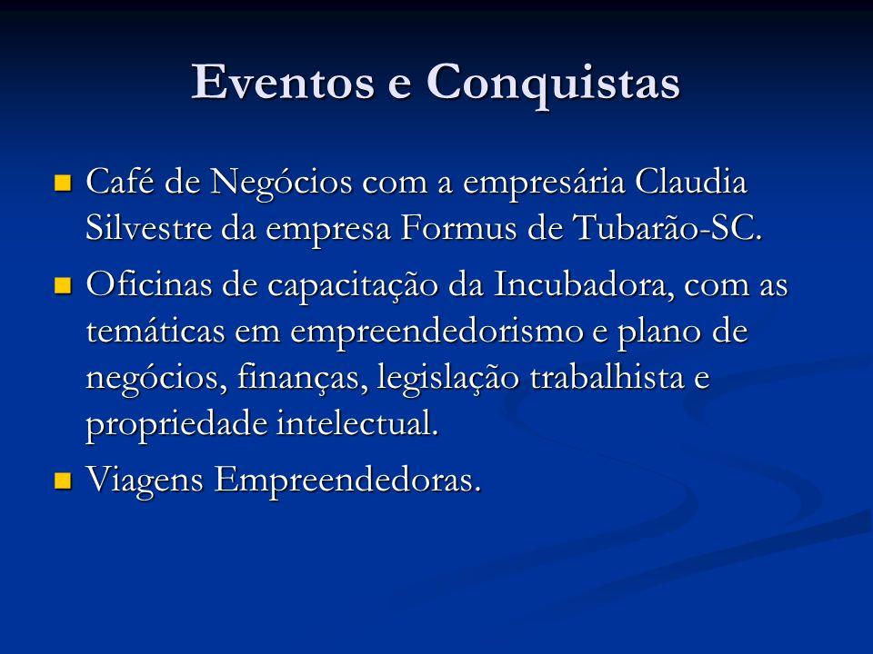 Eventos e Conquistas Café de Negócios com a empresária Claudia Silvestre da empresa Formus de Tubarão-SC.
