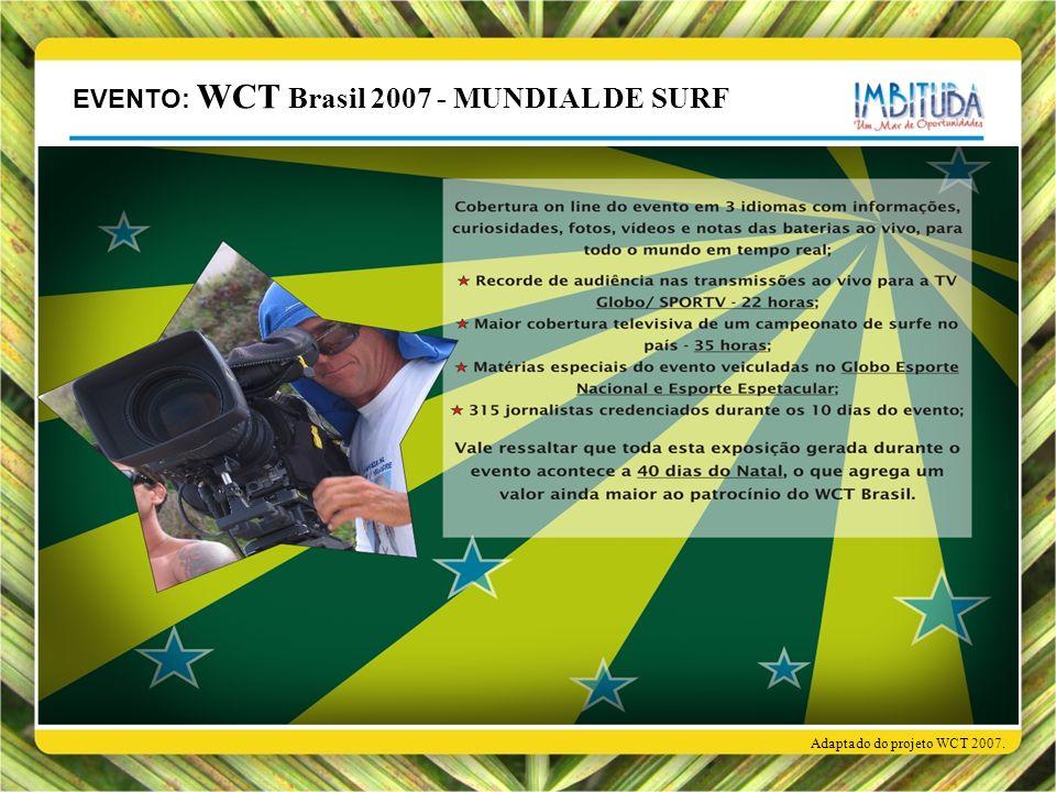 Adaptado do projeto WCT 2007. EVENTO: WCT Brasil 2007 - MUNDIAL DE SURF