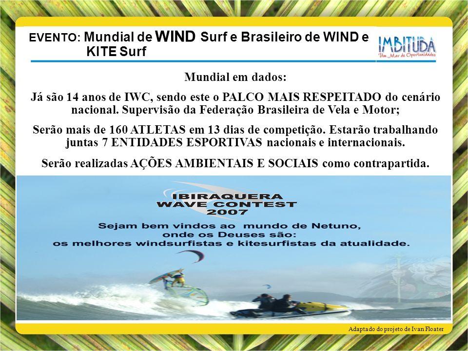 Mundial em dados: Já são 14 anos de IWC, sendo este o PALCO MAIS RESPEITADO do cenário nacional. Supervisão da Federação Brasileira de Vela e Motor; S