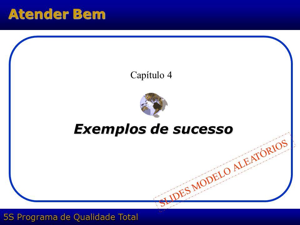 5S Programa de Qualidade Total Atender Bem Exemplos de sucesso Capítulo 4 SLIDES MODELO ALEATÓRIOS