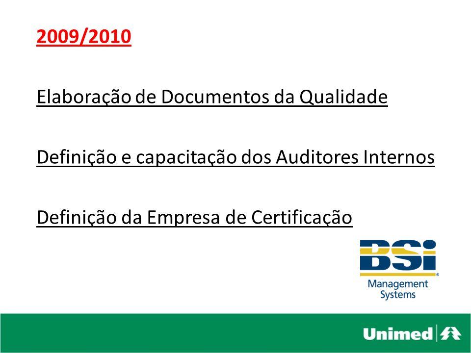 2010 Auditorias 23 e 24/06/10 – Auditoria Externa SEBRAE 25 e 26/11/10 – Pré-Auditoria de Certificação 21, 22 e 23/12 AUDITORIA DE CERTIFICAÇÃO