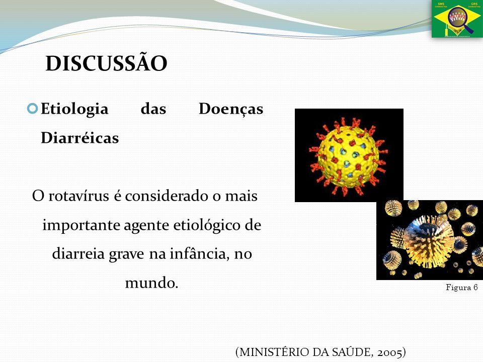 Etiologia das Doenças Diarréicas O rotavírus é considerado o mais importante agente etiológico de diarreia grave na infância, no mundo. Figura 6 DISCU
