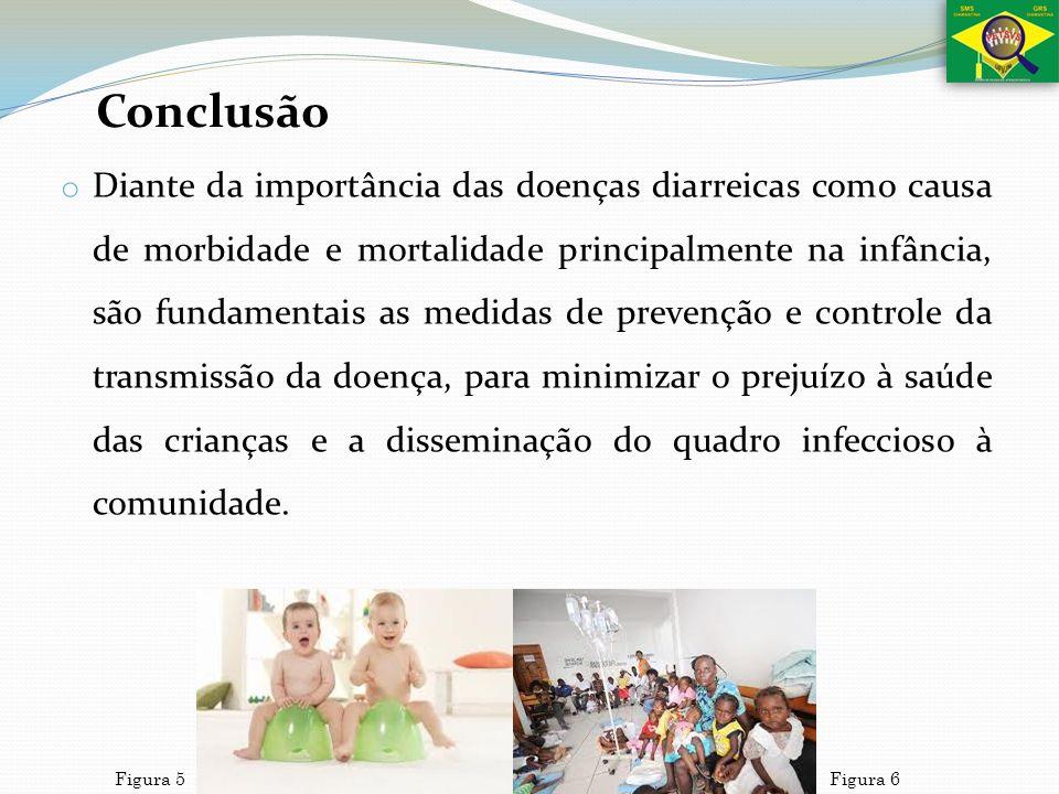o Diante da importância das doenças diarreicas como causa de morbidade e mortalidade principalmente na infância, são fundamentais as medidas de preven