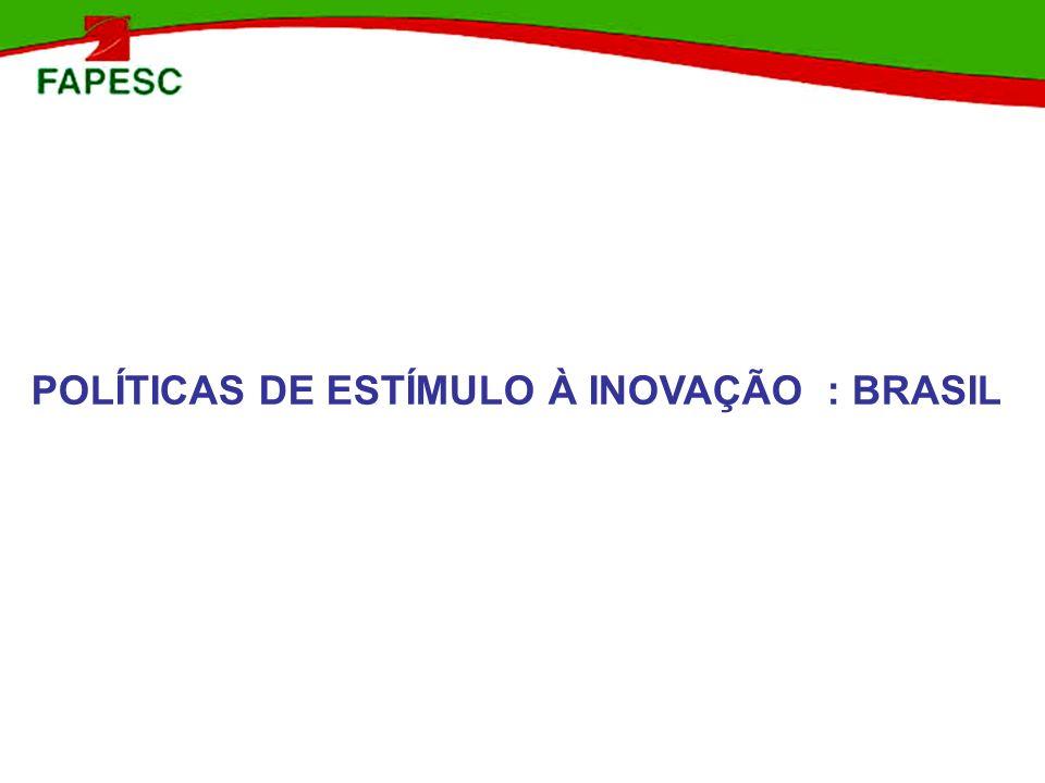 POLÍTICAS DE ESTÍMULO À INOVAÇÃO : BRASIL