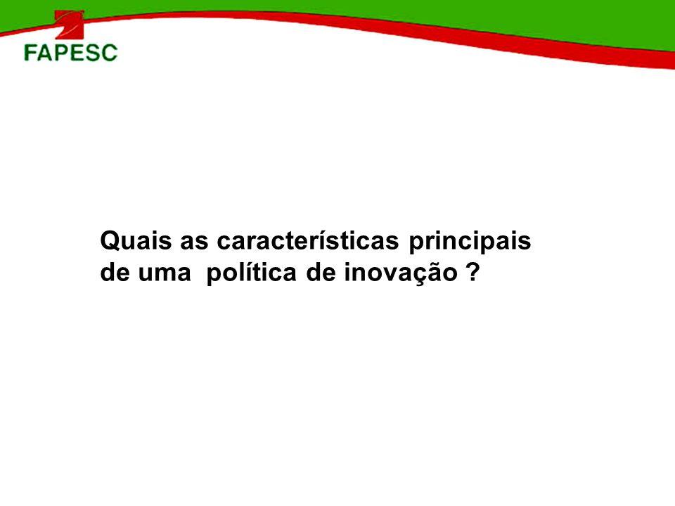 POLÍTICAS DE ESTÍMULO À INOVAÇÃO : BRASIL APOIO TECNOLÓGICO E GERENCIAL SEBRAE: SEBRAETEC / PROGR.
