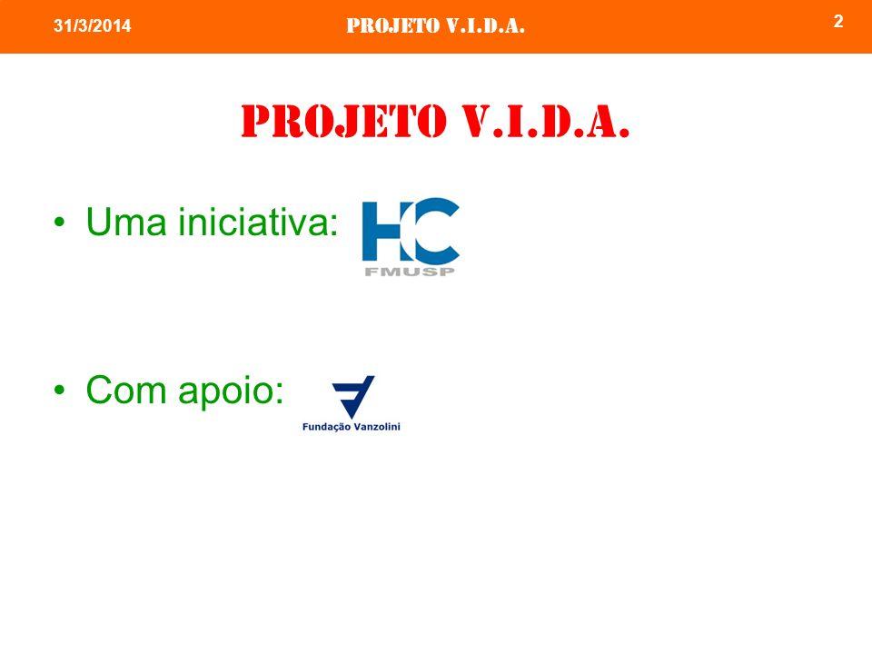 Projeto v.i.d.a. 2 31/3/2014 Projeto v.i.d.a. Uma iniciativa: Com apoio: