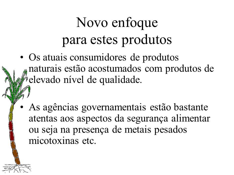 Novo enfoque para estes produtos Os atuais consumidores de produtos naturais estão acostumados com produtos de elevado nível de qualidade. As agências