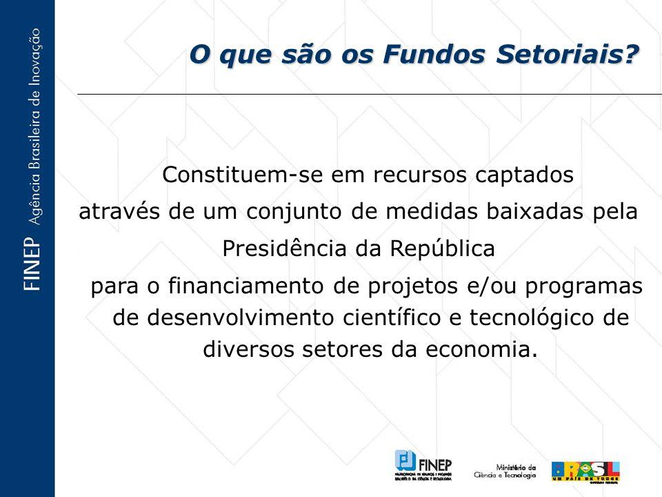 O que são os Fundos Setoriais.