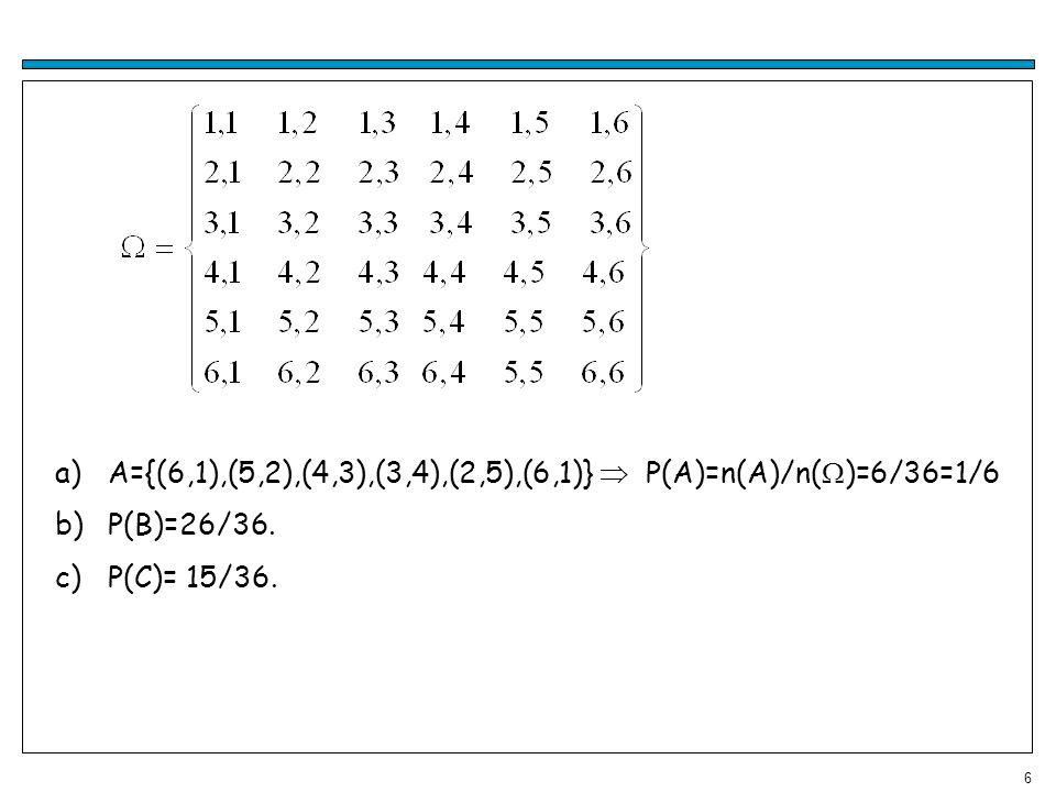 7 Suponhamos que realizamos um experimento n vezes (n grande) e destas o evento A ocorre exatamente r<n vezes, então a frequência relativa de vezes que ocorreu o evento A, r/n, é a estimação da probabilidade que ocorra o evento A, ou seja, Essa estimação da probabilidade por frequência relativa de um evento A, é próxima da verdadeira probabilidade do evento A, quando n tende ao infinito.