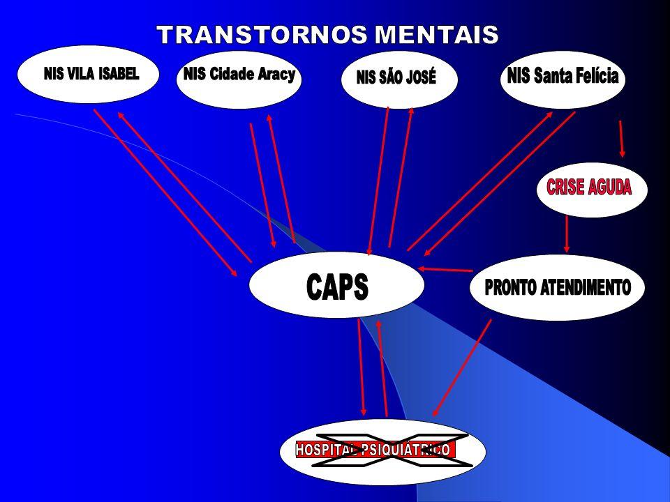 CLIENTELA INDIVÍDUOS PORTADORES DE TRANSTORNOS MENTAIS AGUDOS E/OU SEVEROS OU PERSISTENTES E SEUS FAMILIARES.