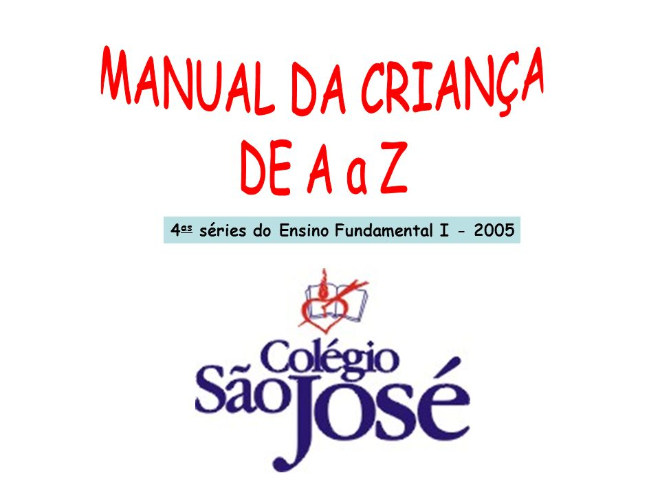 4 as séries do Ensino Fundamental I - 2005