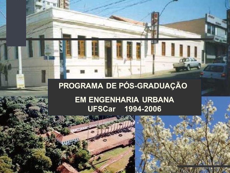 PROGRAMA DE PÓS-GRADUAÇÃO EM ENGENHARIA URBANA UFSCar 1994-2006