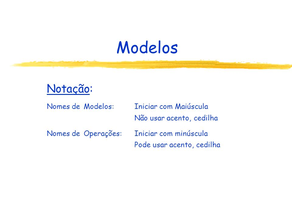 A Aplicação em Java No programa usuário (aplicação): Ponto de entrada: classe com método main public static void main (String[] nome) Recomenda-se: main: o único método de uma classe O método main pode ser usado por outra classe.