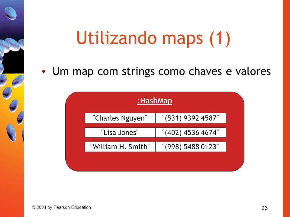 23 © 2004 by Pearson Education Utilizando maps (1) Um map com strings como chaves e valores