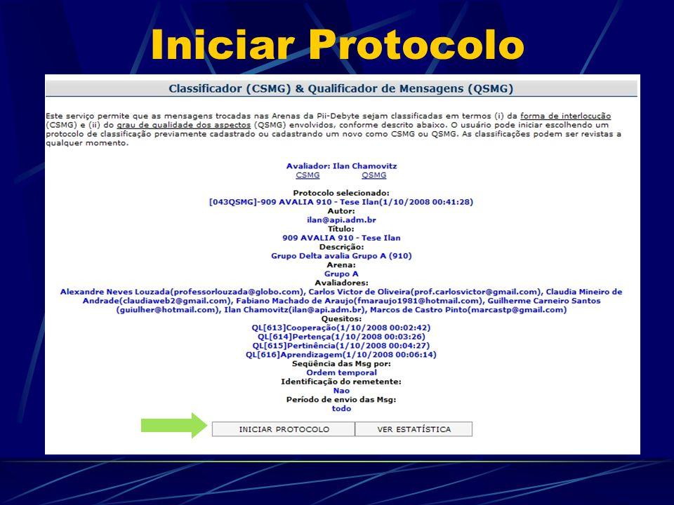Iniciar Protocolo